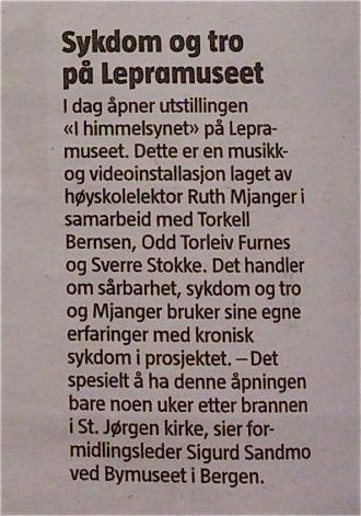 Bergens Tidene, notis 15.5.13